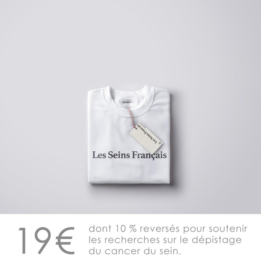 promo les seins français t-shirt